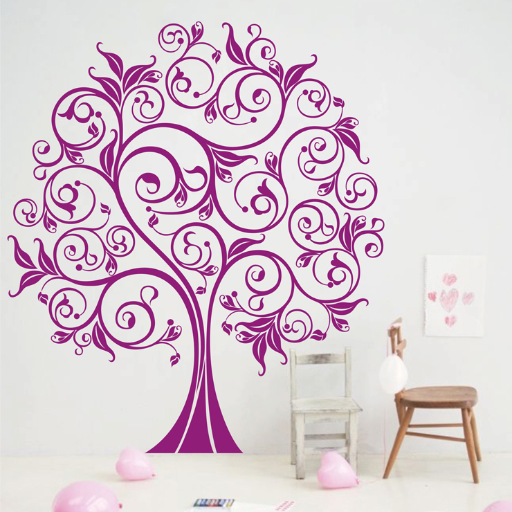 Wall Stickers Large Kids Trees Wall Stickers, Large Tree Wall Decals Home Decor 210 x 183 cm Wall Sticker(China (Mainland))