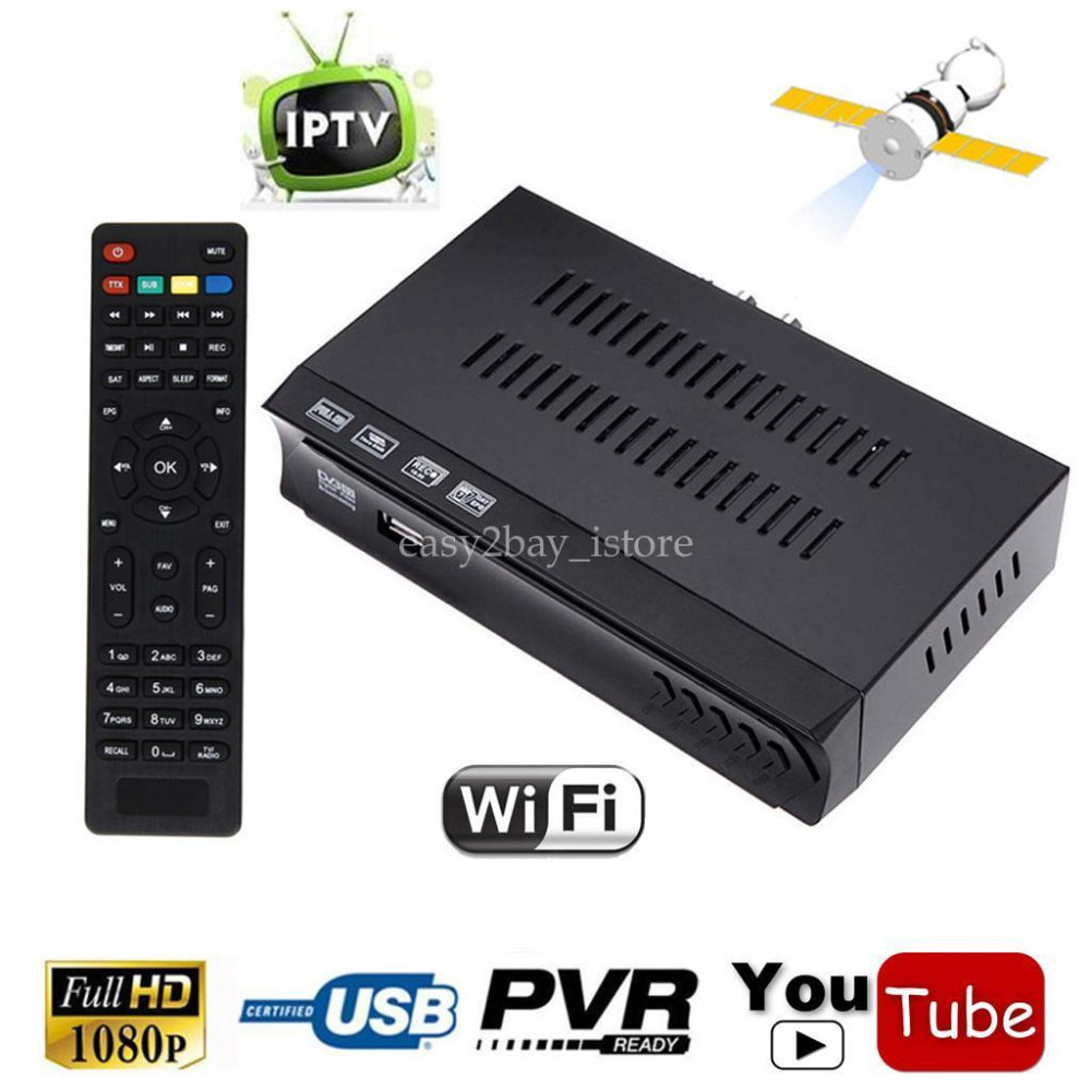 SKY E3 and Red Mini Size HD Digital DVB-S2 Satellite IPTV Combo Receiver Satellite receiver Remote Control