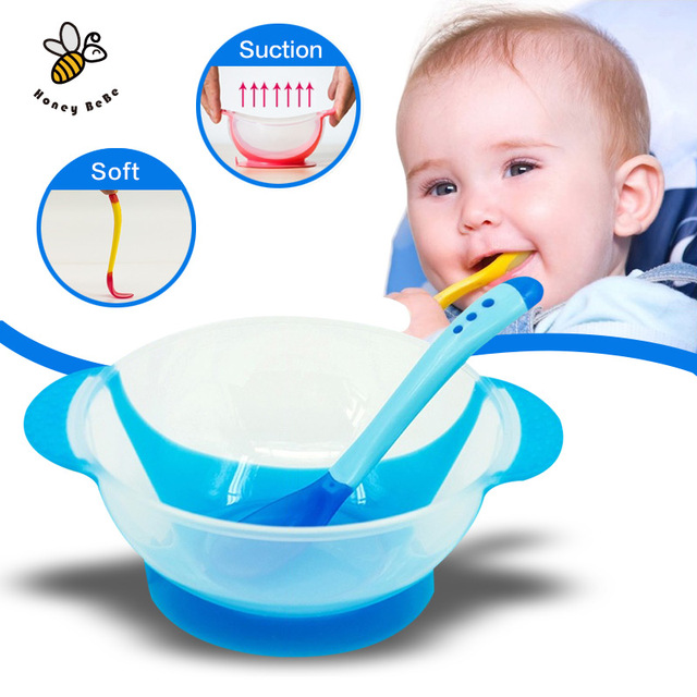 Детская посуда ребенок учится блюда с присоской помочь кормушки измерения температуры ...