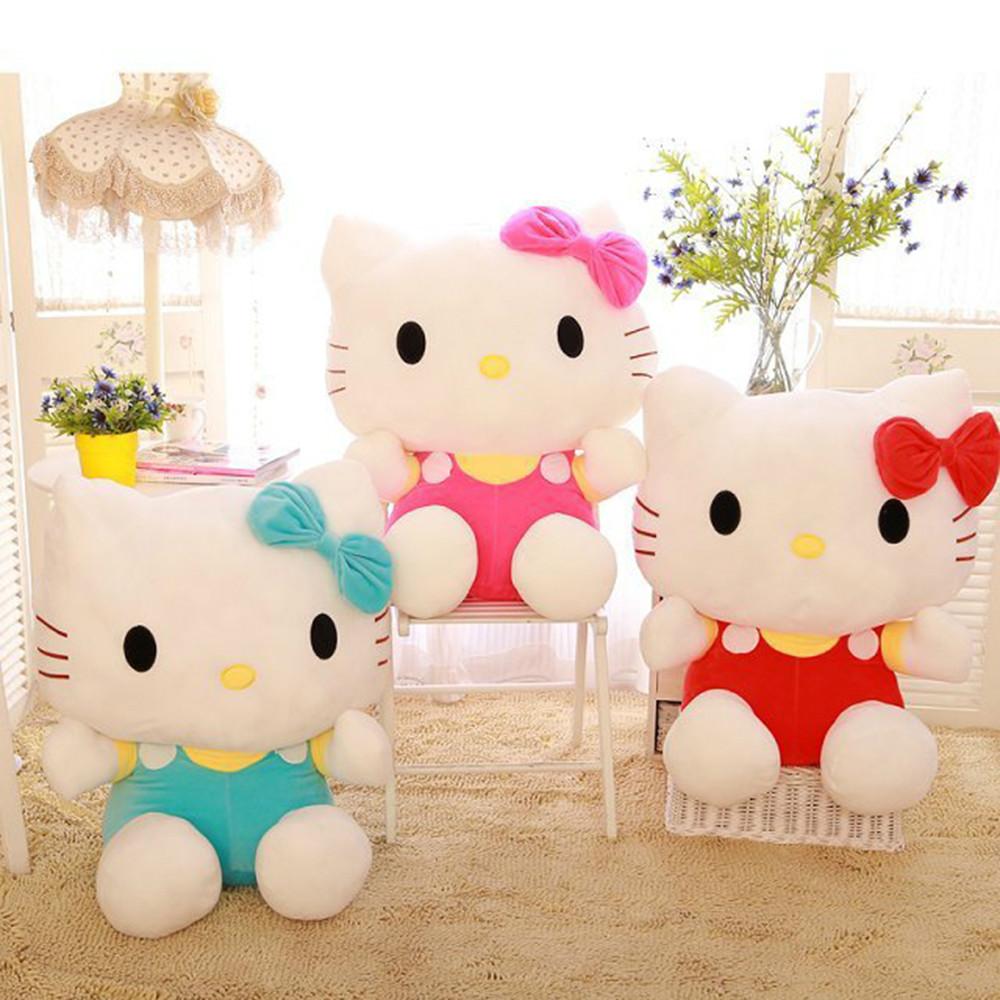 big stuffed animals 45cm Hello Kitty stuffed toys for girls hello kitty plush dolls valentine day birthday gift<br><br>Aliexpress