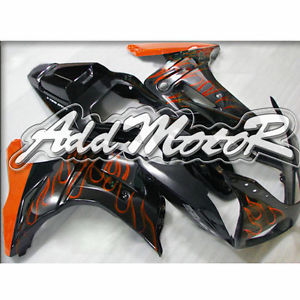 Free 5 Gift ABS Black Orange Flame Handcrafted Fairing Fit SV650 SV1000 2003 13 Cover Racing Seat Windshield Mid Side(China (Mainland))