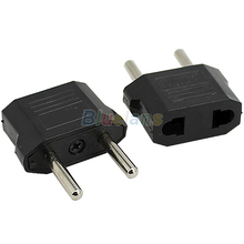 US to EU AC Power Plug Travel Converter Adapter Household Plugs 01N7 3VUR