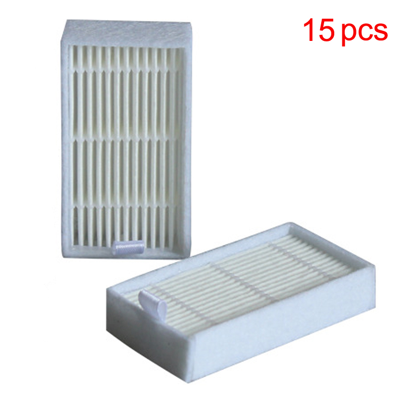 15 pcs / Lot Hepa filters for Dibea Depoo Panda X500 ECOVACS X500 X600 CR120 Vacuum Cleaner parts replacement Free Post New(China (Mainland))