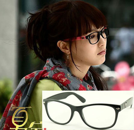 Gold skull candy multicolour rivets plain glass spectacles vintage frame 8211 4 10pcs(China (Mainland))