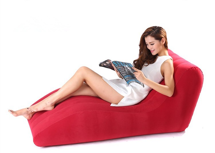 Type s Flocking inflatable sofa chair Outdoor leisure chair Inflatable sofa European style single bed