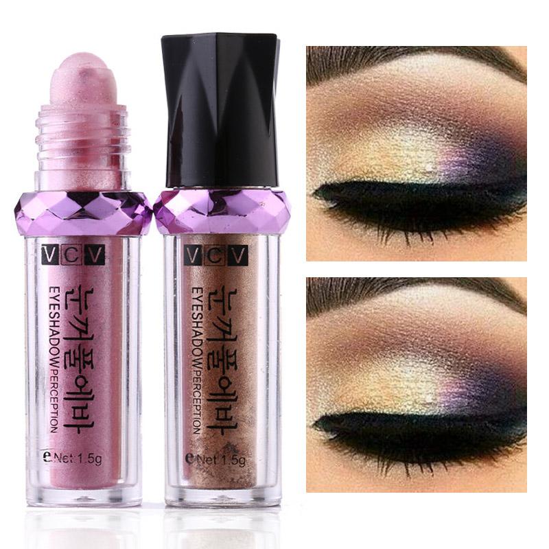 Eye Makeup Eyeshadow powder Fluorescent Roll-on Eyeshadow Powder Minerals Pearly-lustre Eyeshadow Beauty(China (Mainland))