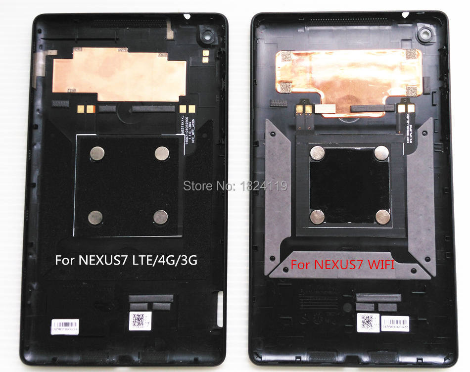 Original For ASUS Google Nexus 7 2nd Gen 2013 WIFI ME571K K008 Back Rear Cover Battery Cell Door Housing Replacement With NFC(China (Mainland))