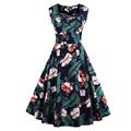 Vintage Women Dress Audrey Hepburn 1950s 60s Rockabilly Summer Party Dress Sleeveless Beach Dresses Vestidos Casual