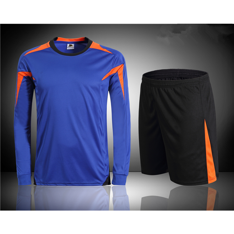 2015/16 New Quality Mens Soccer Jersey Suit Blank Training Survetement Football Tracksuit Sports Competition Uniforms Design XXL(China (Mainland))