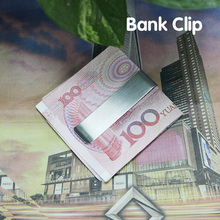 Free Shipping Practical Stainless Steel Money Clip Long Slim 2 8 Silver Credit Card Clips Hot