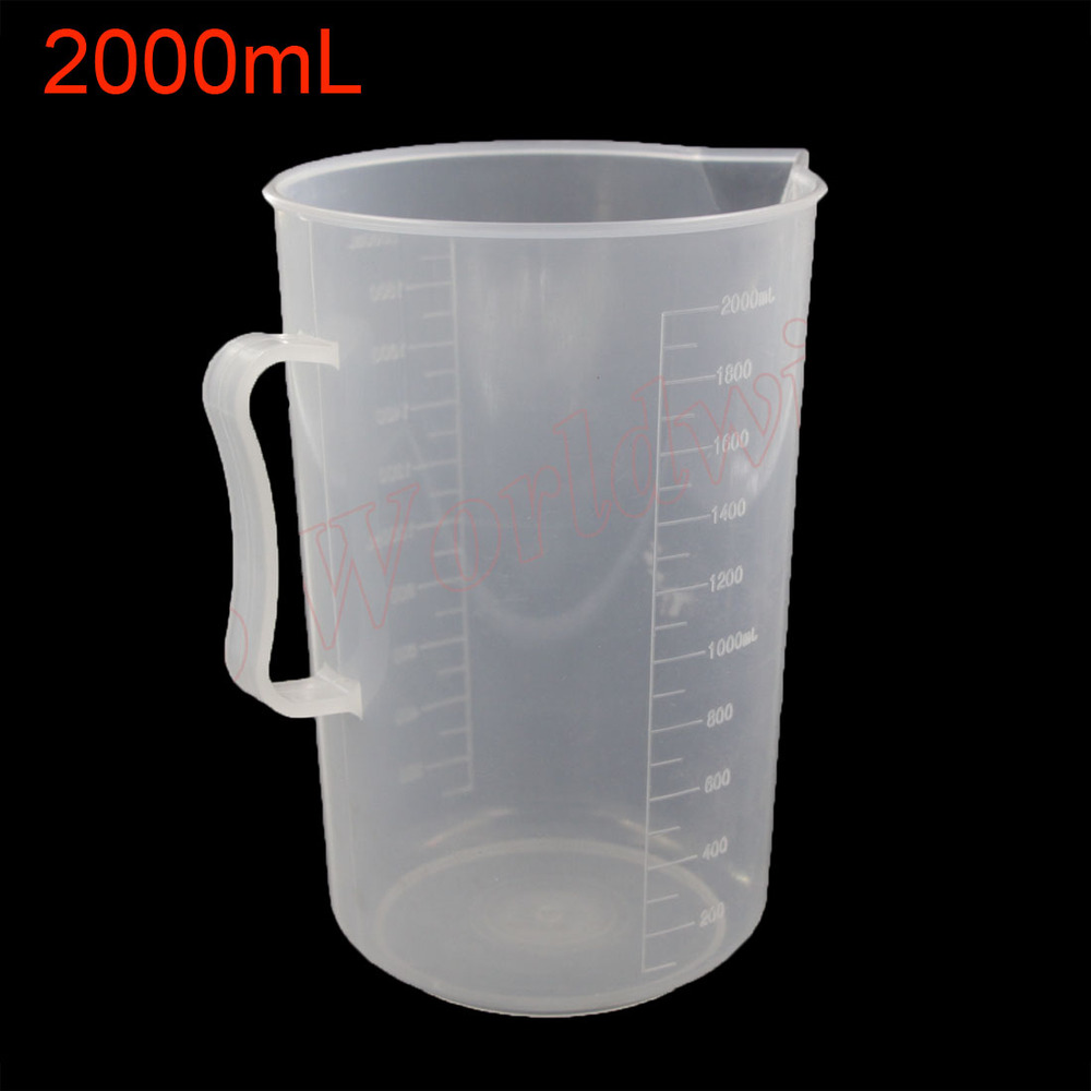 Dial Cup Plastic Plastic Measuring Cup Beaker 2000mL Capacity Cup with a Bend Handle<br><br>Aliexpress