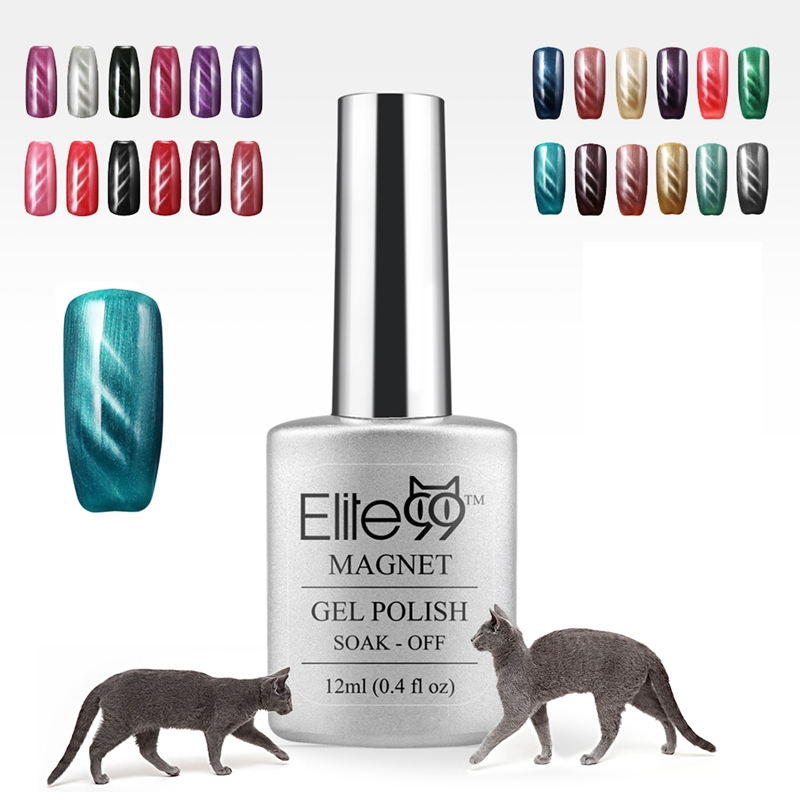 Elite99 3D UV Nail Gel Polish LED Cat Eye Color Manicure Dark Cat Color 12ml Healthy and Eco-friendly Gel Lacquer Best On Ali(China (Mainland))