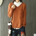 New product release in the autumn of 2016 the original design pure knitting cotton loose big