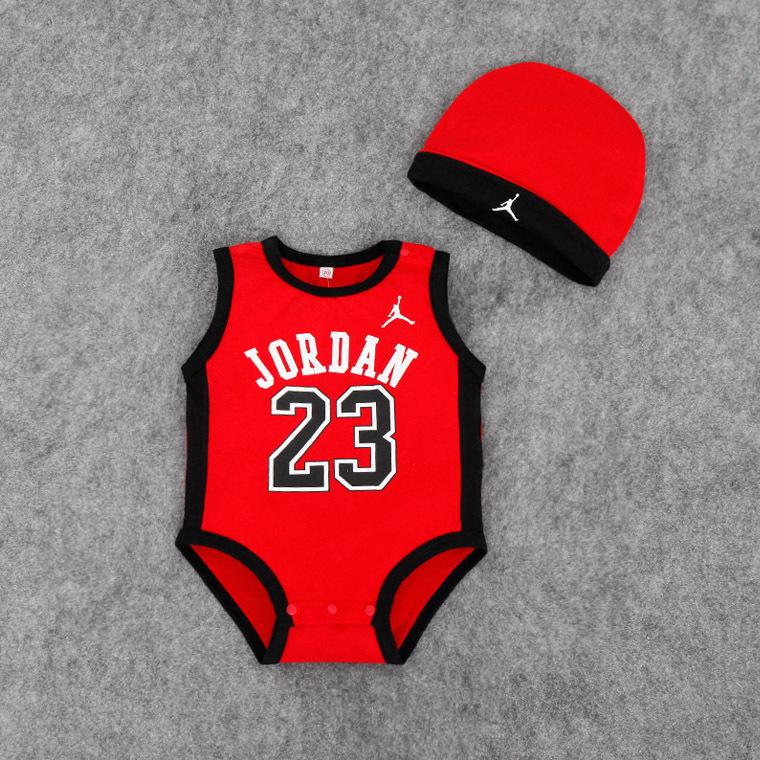 baby\newborn\neonato summer cotton jordan clothing black\white NBA net\mesh bodysuits for boys\garcon\girls\boys\fille\garcon(China (Mainland))