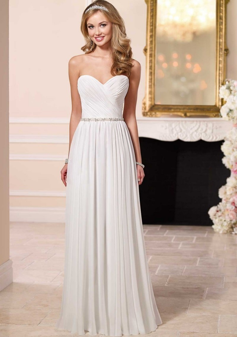 2016 cheap price luxury vestido de noiva robe de mariage for Beach chiffon wedding dress
