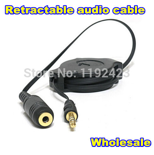Retractable style car audio line cable 3.5mm Male to 3.5mm Female Extension Adapter Audio Earphone For Headset Aux(China (Mainland))
