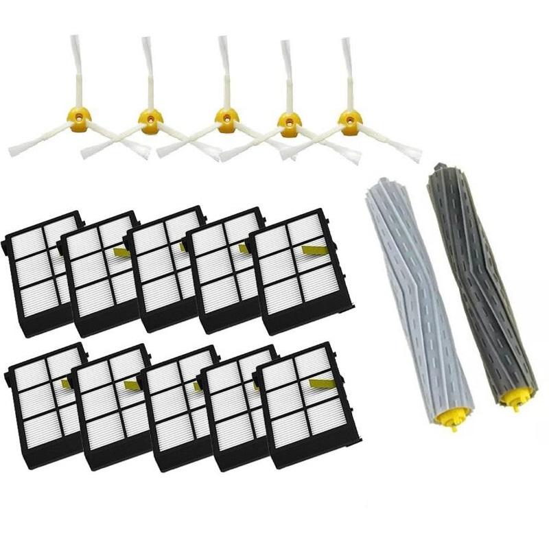 Debris Extractor Set & SideBrushe & Hepa Filter For iRobot Roomba 800 900series 870 880 980 Vacuum Cleaning Robots(China (Mainland))
