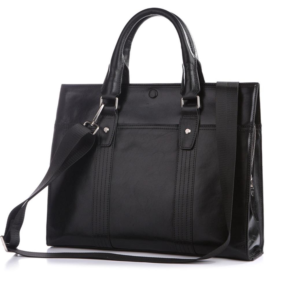 Hot New Fashion Genuine leather briefcase Men designer ...