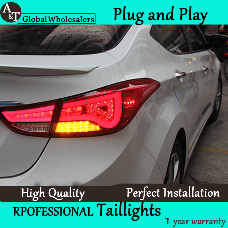 A&T Car Styling for Hyundai Elantra Taillights BMW Design New Elantra MD Tail Lamp Rear Lamp DRL+Brake+Park+Signal led lights(China (Mainland))
