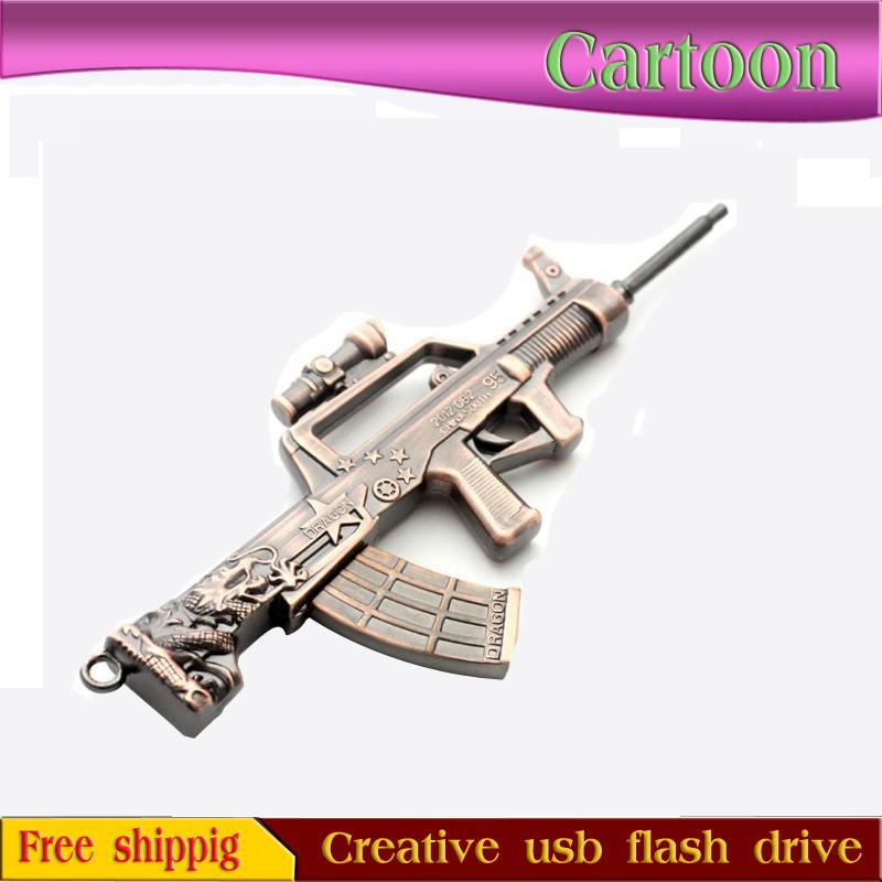 Gold Replica Guns Pendrive Metal Replica Guns