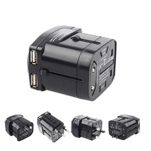 Global Worldwide Travel Power Plug Adapter Socket Converter Dual USB Charger 5V 2.1AAU/US/UK/EU Guaranteed 100% - Shenzhen HUAAN store