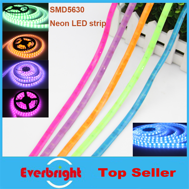 New LED Colourful Fluorescent strip SMD 5050 DC12V 60 leds/m,IP65 waterproof Neon LED strip,5m/lot(China (Mainland))
