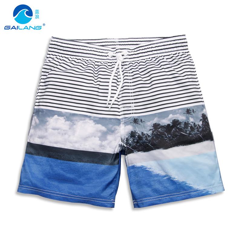 2016 Summer Mens Surf Board Shorts Men gailang Brand Short Liner Beach Boardshorts Quick Dry swimwear S-3XL male hawaiian shorts(China (Mainland))