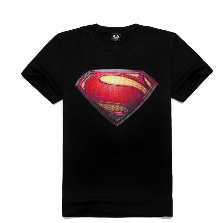 M-XXXL Summer Fashion Diamond Superman T shirt Men's T shirts Cool Diamond Tshirt Unique Design Short Sleeve Man Top Shirts(China (Mainland))