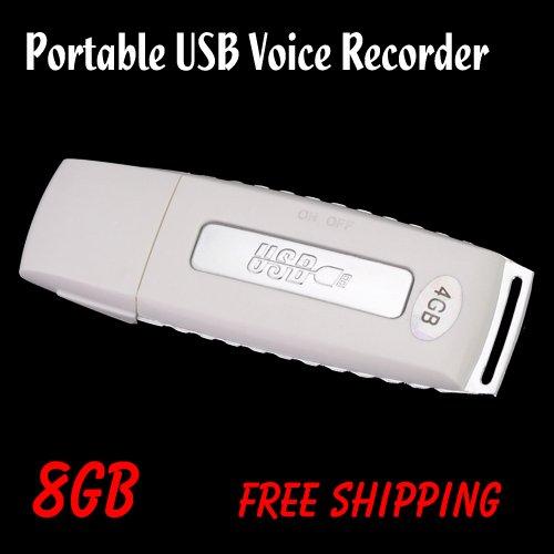 Free shipping Portable 8GB USB Voice Recorder Keychain USB 2.0 Flash Disk WAV Format(China (Mainland))