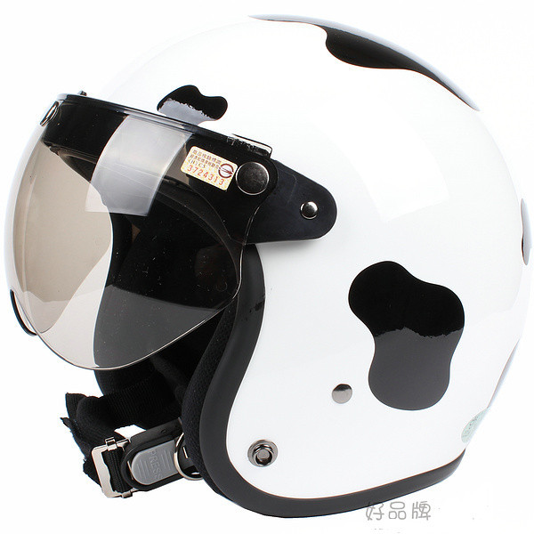 Free shipping!!Fashion Halley EVO half helmet,electric bicycle Open face helmets,vintage Motorcycle winter helmet,Dairy cow<br><br>Aliexpress