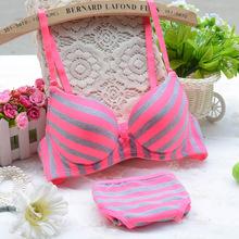 Buy Sexy Women Lingerie Girl New Light Stripes Bamboo Carbon Fiber Underwear Push Bra Sets Women Intimates P2