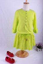 Elsa Promotion New 100% Cotton Girls Dress For Girl 2015 Long Sleeve Dresses Girl's Clothing For Children's Wear Free Shipping