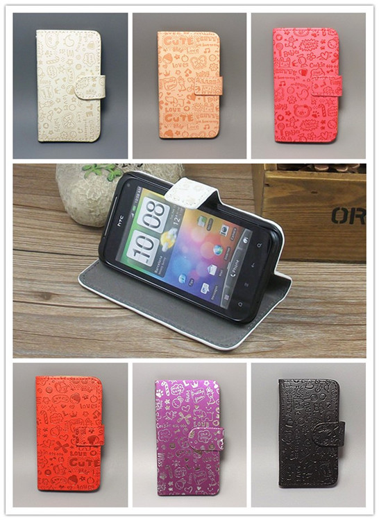 Magic Girl stand Leather Case cover with Holder Card Slots For Nokia Lumia 925 freeshipping(China (Mainland))
