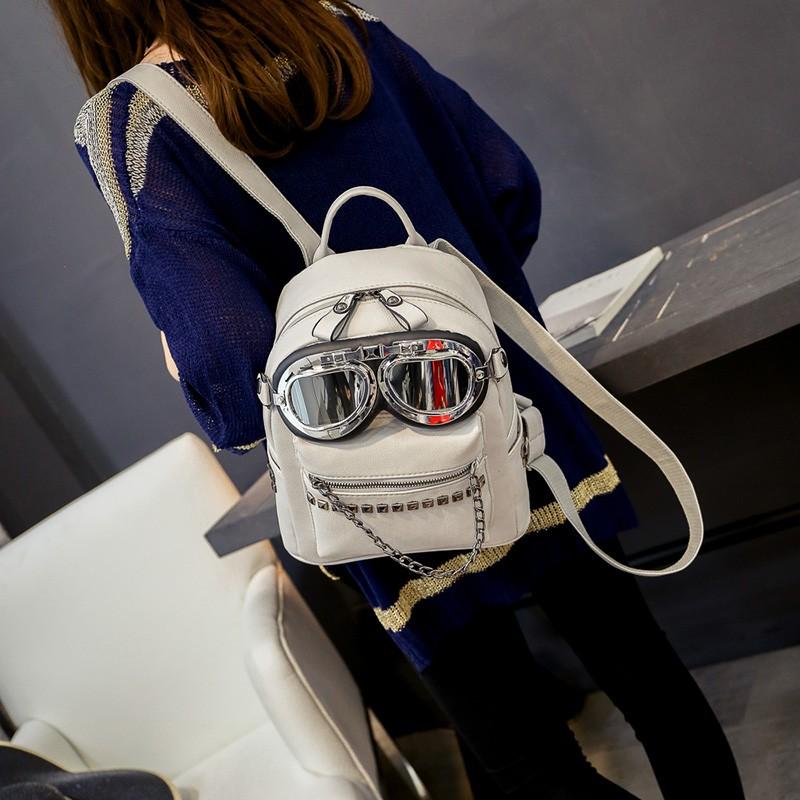 2016 cool sunglasses fashion women backpacks Korean rivet mini school bag backpack for youth lady College girls rucksack (5)