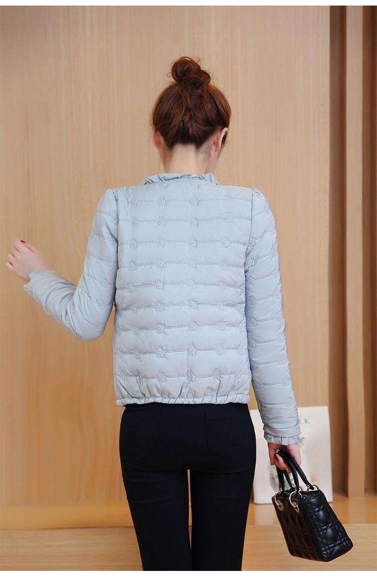Скидки на Зима Новый Шаблон Корейской Моды Тонкий spaace хлопка С Коротким пальто Согреться Небольшие Свободные пальто женщина 688858