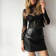 Buy 2017 Autumn Winter New PU Leather Womens Mini Skirt Casual Fashion Sexy Bodycon Zipper High Waisted Women Mini Pencil Skirts for $13.06 in AliExpress store