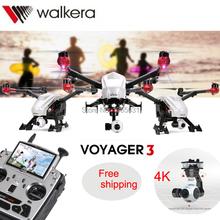 2016 Walkera Voyager 3 Dual-Navigation FPV Quadcopter RTF Drone With 4K HD Camera Devo-F12E Gimbal GCS VS DJI Inspire One Dron