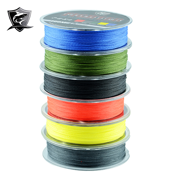 2014 New Fighter Brand Multifilament PE Braided Fishing Line Carp 100m Super Strong 4 Stands 8