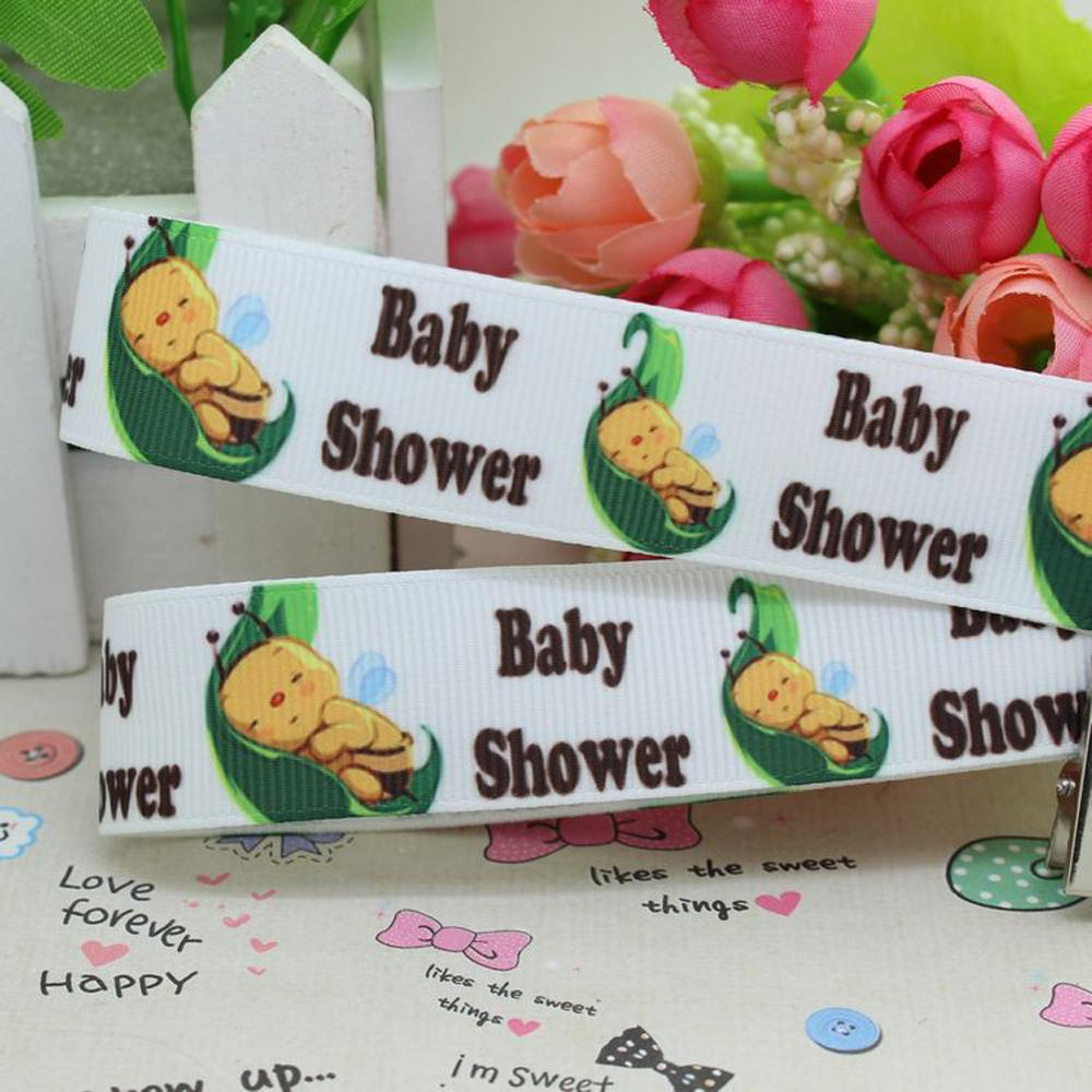 22mm popular baby shower babies printed grosgrain ribbon for bows