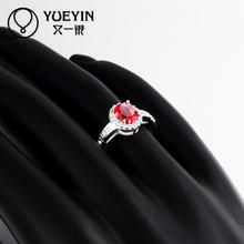 R026 New Arrival anillos de plata 925 sterling silver ring fashion ruby jewellery rings for women