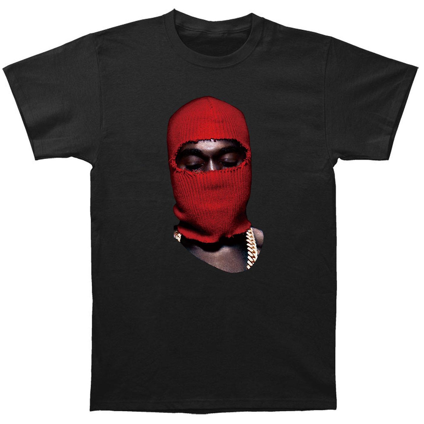 Kanye West Red Ski Mask Yeezus Vinyl Cd Shoes Poster Apc Water Black T Shirt(China (Mainland))