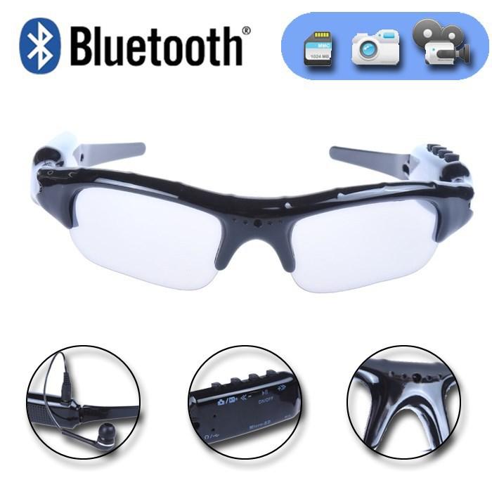 Sport Wireless Bluetooth Camera Eyewear Sunglasses Video Recorder DVR DV Camcord