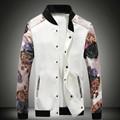 Yeni erkek aşağı ceket Kamuflaj ceketler kapşonlu fermuar ceket 2016 moda