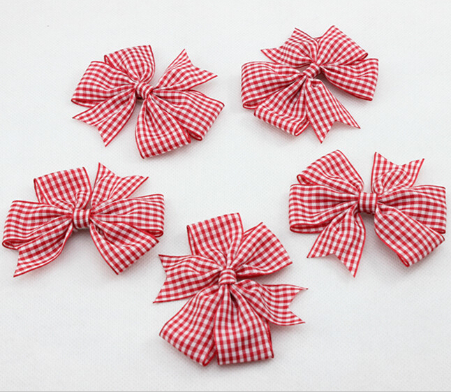 Baby Girl Hair Bows Clips Boutique Pin Plaid Hairpins Kids Accessories Felt Bow 30 pcs/lot - Babyhood One-Stop store