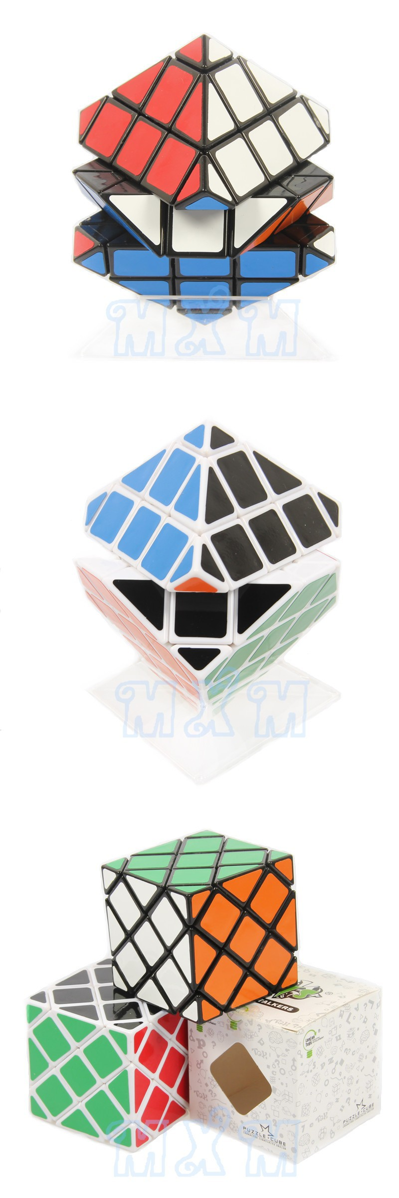 New Unusual-Form LanLan Eight-Axis Grasp Skewb Magic Dice 56mm Velocity Puzzles Twist Sq. Cubo Magico Studying Training Recreation Toy