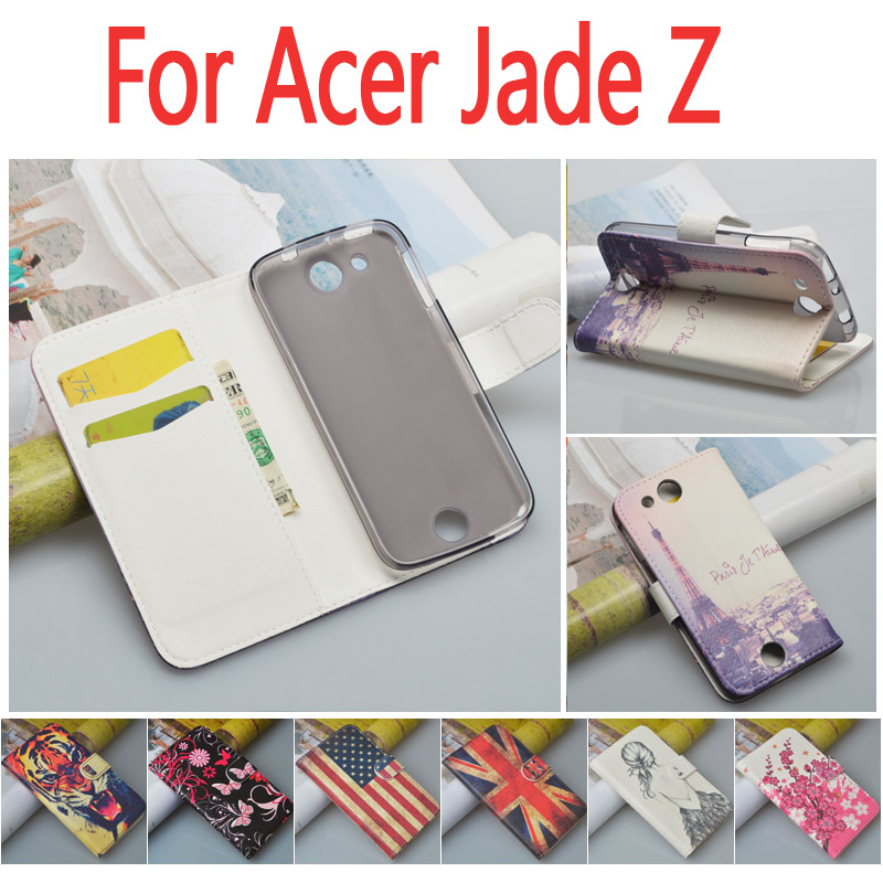 Special Offer For Acer Jade S S56 Leather Case For Acer Liquid Jade Z Flip Cover PU Wallet with ID Card Holder Slots and Stand(China (Mainland))