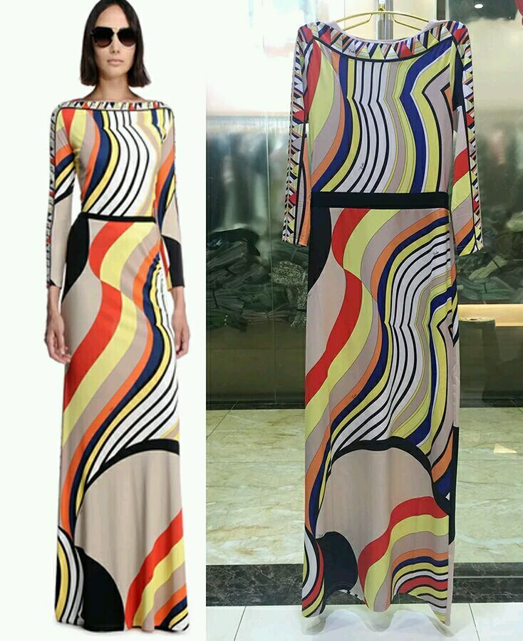 new arrival Fall New Italian Designer fashion sexy epucci dress  Printed Slim mopping stretch knit dress dinner dressesОдежда и ак�е��уары<br><br><br>Aliexpress