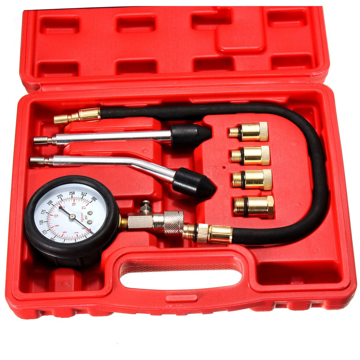 New Automotive Petrol Engine Compression Tester Test Kit Gauge For Car Motorcycle(China (Mainland))