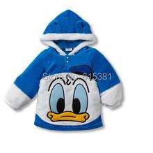 Free shipping autumn children's clothing boys girls pullover Hoodies kids Fleece cartoon minnie Donald mickey Sweatshirts coats(China (Mainland))
