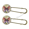 New design colorful butterfly 25mm glass brooches fashion 2016 for women scarf fashion jewelry buckle wedding